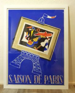 """55 Saison de Paris"" Advertising Poster signed Aumoine.Vintage Poster"