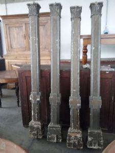 4 Tuscan canopy columns