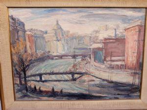 """ERNESTO MASSIGLIO 1895-1974 """"VAL BISAGNO IN GENUA"""""""