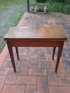 Tavolo da gioco luigi xvi noce lucca in patina originale l88xp43xh77 aperto86x88