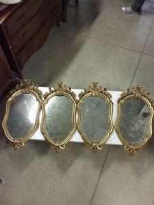 4 specchiere h78 con porta candele
