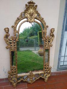 Fantastica specchiera in legno dorata 175x100