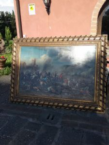 Grande battaglia di bernardo cavallotti220x165 senza cornice 180x12o quadro di grande scenografia