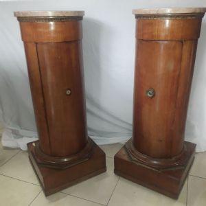 Pair of column cabinets. Bologna Sec XIX