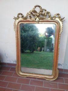 Specchiera a vassoio con fiocco 125x80