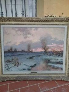 100x80 landscape with juan karpoff frame