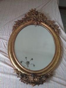 Specchiera ovale 110x80 epoca 1800  dorata