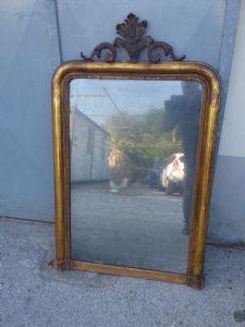 Specchiera dorata 125x80 toscana