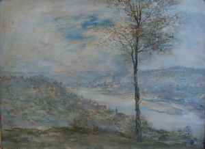 Jean Francois Raffaelli - Paesaggio Fluviale