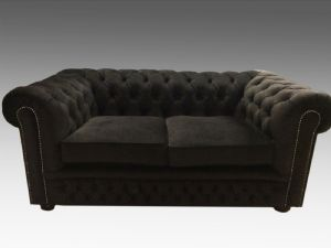 Black capitonnè sofa in velvet - Made in Italy