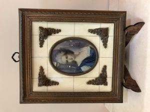 Miniatura su avorio Francia XIX sec.