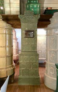 Jugendstil stove (moss green)