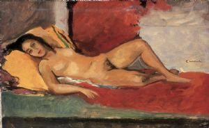 Nudo sdraiato, 1950