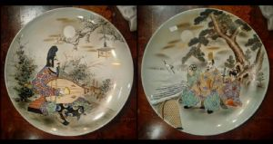 Pair of Japanese dishes