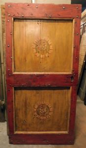 ptcr433 - puerta lacada rústica, cm l 94 xh 190
