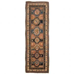 Antica e rara passatoia Caucasica GANDJEH da collezione privata