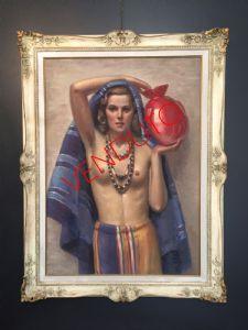 Pintura, desnudo de una mujer por Giacomo Gabbiani