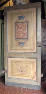 ptl274 n. 2 lackierte Türen mit Verzierungen, Maße 100 x 220