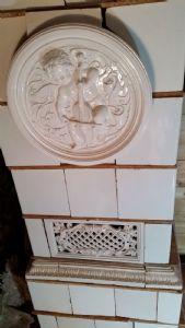 Старинная белая мейсенская печь, 19 век.