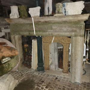 stone fireplace frame