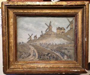Schlacht von Valmy. Aquarell. 10x13 cm