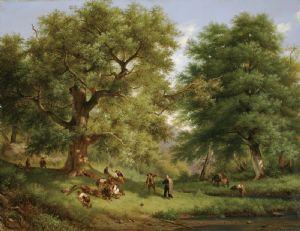 Guerrilla spagnola a riposo nel bosco di Aranjuez, 1835