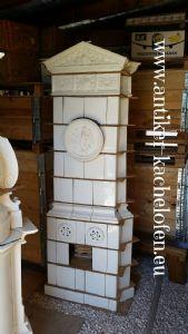 Antigua estufa blanca de la esquina, siglo XIX, Hardmuth.