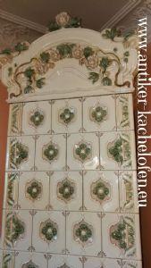 Antigua estufa de meissen, del siglo XIX.