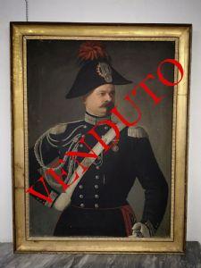 Grande dipinto, olio su tela raff: ritratto di Carabiniere.