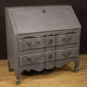 French bureau in painted wood