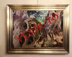 Dipinto olio su tela, Carlo levi / Carrubi d'Alassio 1972 con autentica fondazione Carlo Levi