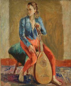 Menina com alaúde, 1938