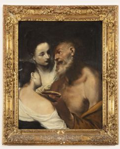 """Картина маслом на холсте с изображением """"Лот и ее дочери"""""""