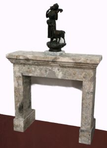 Antique marble fireplace. Early 1900s. Cm 88x82 h