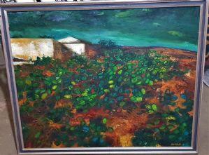 Silvani O. Grande dipinto ad olio