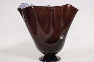 Vaso a fiore in vetro di Murano originale firmato E. Cammozzo