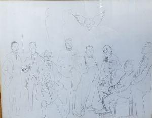 Giulio Boetto, Disegno a matita firmato