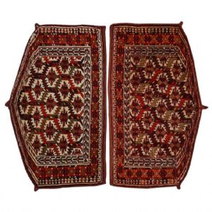Turkoman Yomut Rugs, Camel Trapping, Rare Pair