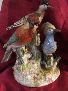 Porcelain parrots