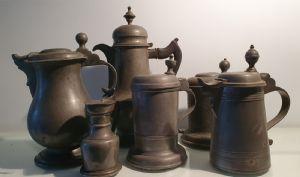 boccali in peltro XVIII e XIX secolo
