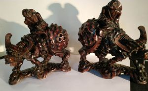 Coppia di sculture cinesi
