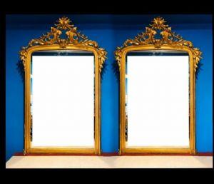 Пара золотых зеркал