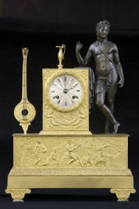 Gilded bronze clock early 19th century