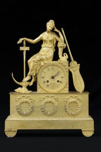 Gilded bronze clock France early 19th century