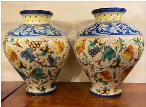 Coppia di vasi - firmati Ginori fine '800 - inizio '900