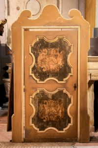 ptl538 - лакированная дверь с крашеными панелями, период '6 /' 700, 170 см l 170 xh 290