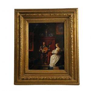 Scena galante nel gusto fiammingo XVII secolo