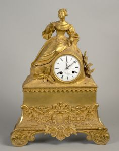 Louis Philippe clock in gilt bronze, dial signed Balliman Rue de Bussy - France mid-19th century