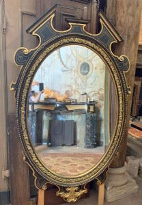 specc329 - oval mirror from the '8 /' 900 period, size cm l 120 xh 190
