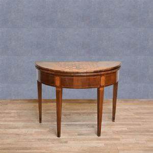Directoire-style half-moon gaming table, first half of the 19th century